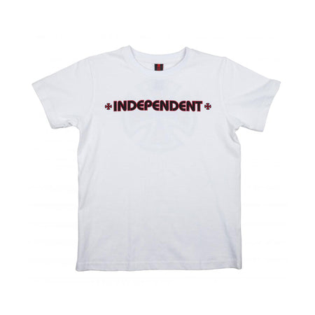 Independent Bar Cross Youth T-Shirt White