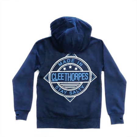 Cleethorpes Navy Zipped Hoody