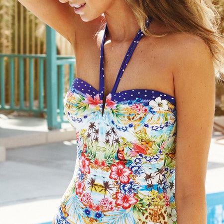 Watercult Island Kitsch Bandeau Swimsuit