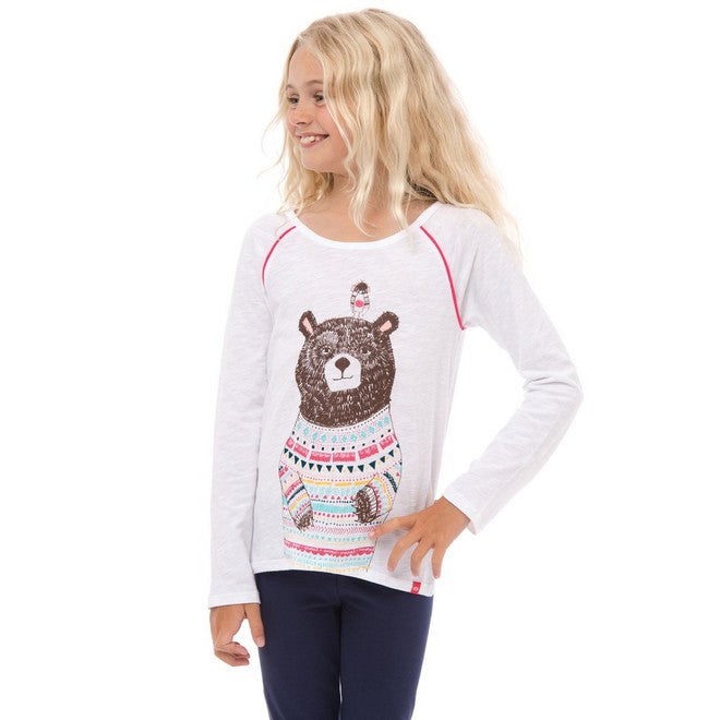 Animal Girls Beau Bear Long Sleeve T-Shirt