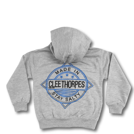 Cleethorpes Grey Kids Zipped Hoody