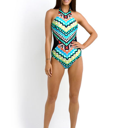 Seafolly Kasbah High Neck One Piece Swimsuit