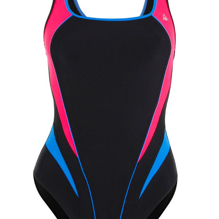 Aqua Sphere Ladies Lita Black Red Swimsuit