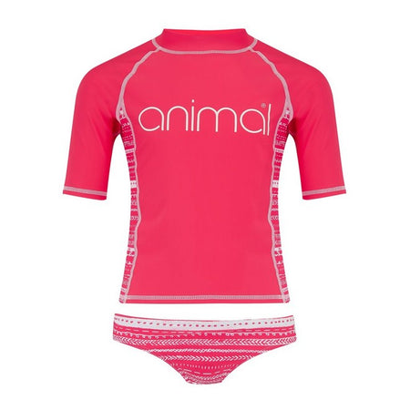 Animal Girls' Posie Rash Vest Suit