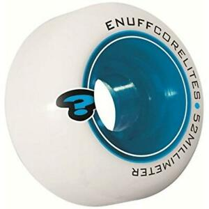 Enuff Corelites Skateboard Wheels White Blue 52mm