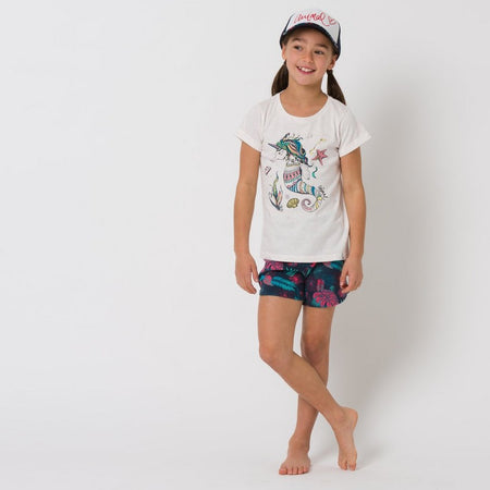 Animal Girls' Summer Leaf Shorts