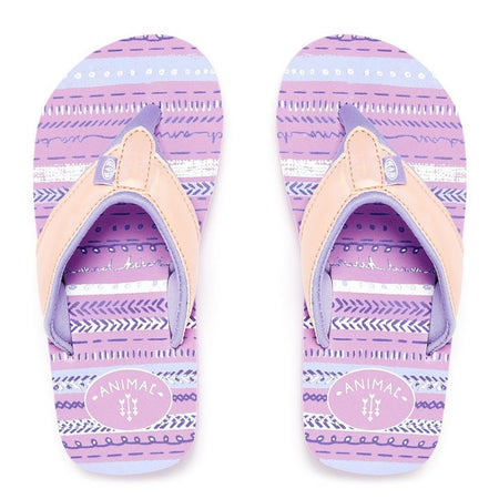 Animal Girls' Swish Glitz Flip Flops