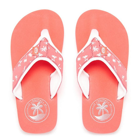 Animal Girls' Swish Upper All Over Print Flip Flops