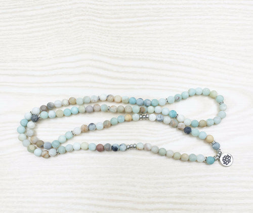 AQUA Amazonite Mala necklace
