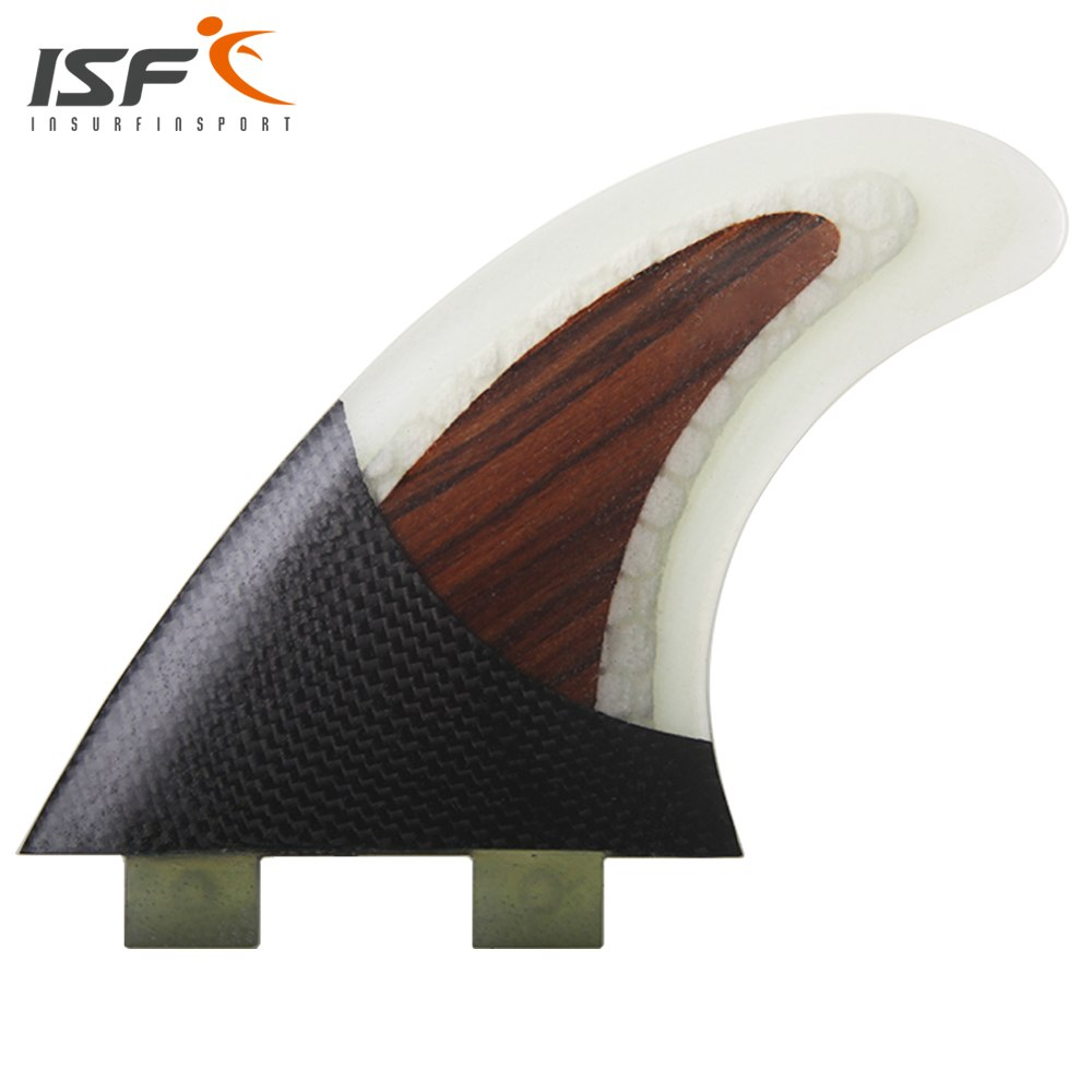 SNAPPER Insurfin Carbonfiber & Wood Surfboard Fins