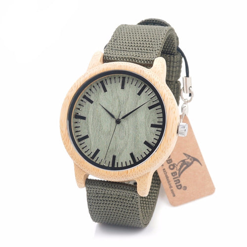 ARUSHA Wood Bamboo Watch