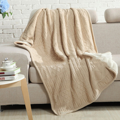 FAIRBANKS double knitted blanket