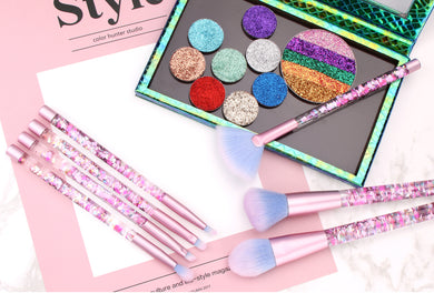 Liquid Glitter Cosmetic Brush Set