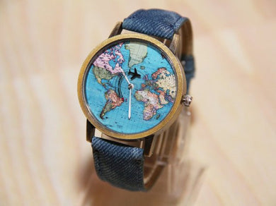 World Map Wanderlust Watch