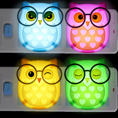 Cartoon Owl LED Night Light