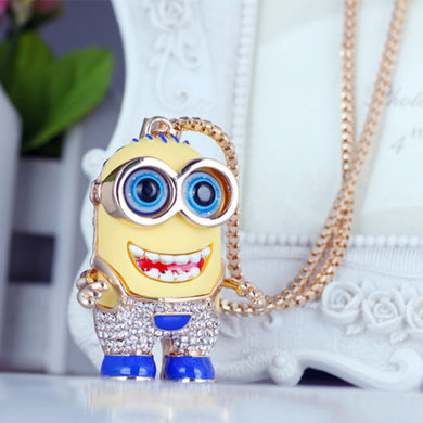Minion Rhinestone Necklace