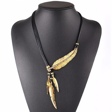 Inspired Native Japanese Feather Necklace