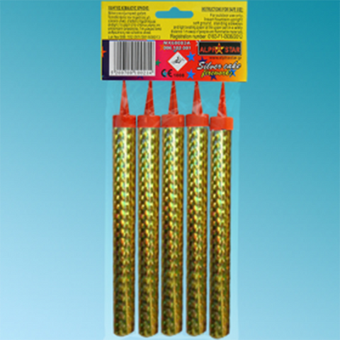 Gold Cake firework Torches (5 pcs)
