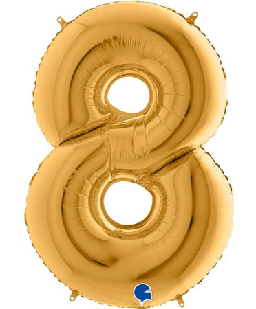 40'' Gold Number '8' Foil Balloon