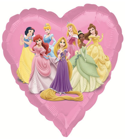 18'' Heart Princesses Disney Foil Balloon STREET