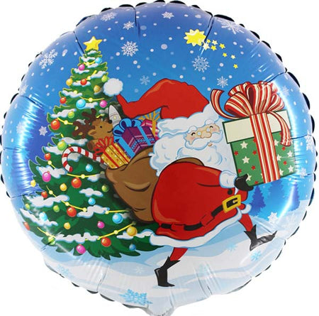 "18"" Santa Claus with gifts foil balloon"