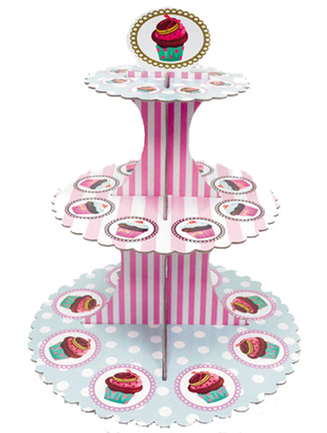 Base for Cupcake with Stripes & Polka dots