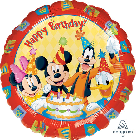 18'' Mickey Mouse and Friends 'Happy Birthday' Foil Balloon