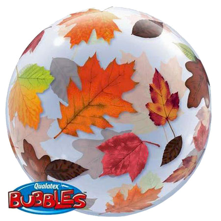 22'' Autumn leaves single Bubble balloon