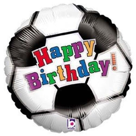 18'' Soccer Ball 'Happy Birthday' Foil Balloon