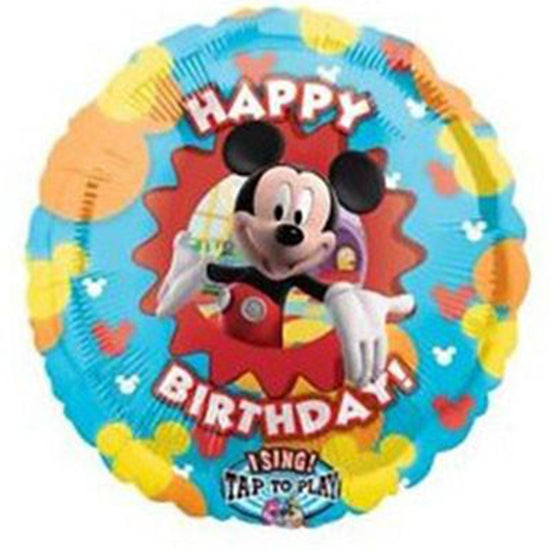 28'' Mickey Mouse Disney Sing-A-Tune Happy Bday Foil Balloon