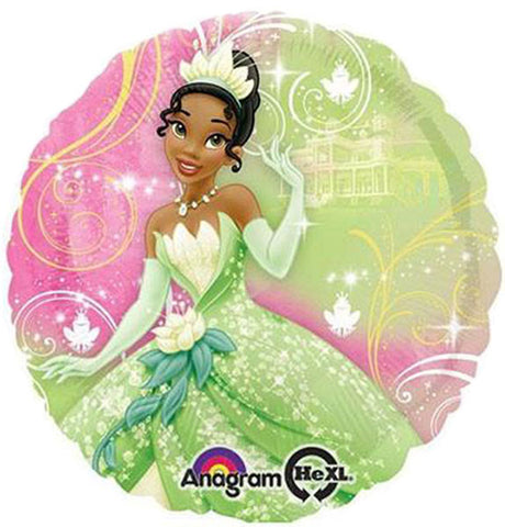 18'' Princess and frog Disney green Foil Balloon
