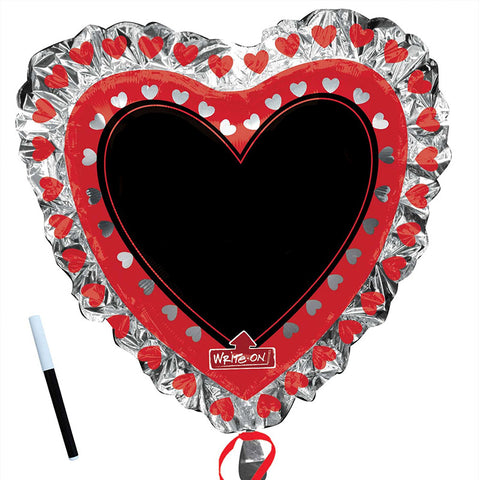 "36"" Heart with black board Foil Balloon"