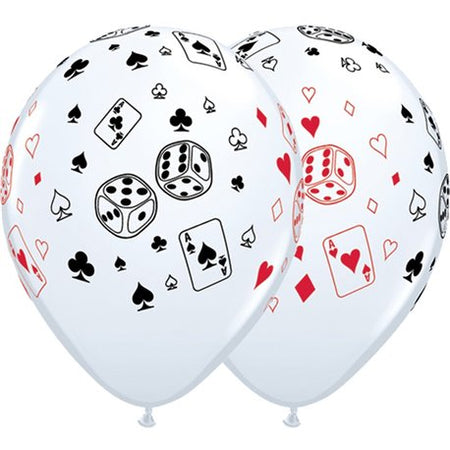 12'' Printed Poker Latex Balloon (25 pcs)