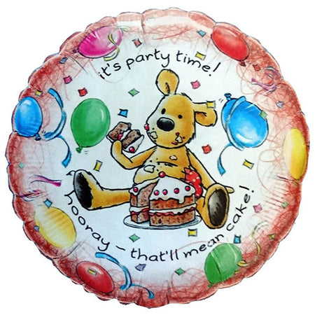 18'' Teddy Bear 'Its Party Time' Foil Balloon