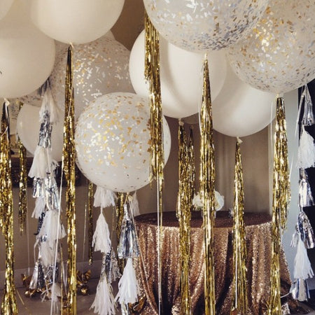 Silver party foil Curtain