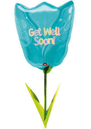 Tulip 'Get Well Soon' Airwalker Foil Balloon