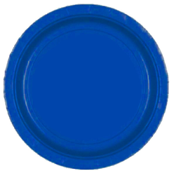 Big Royal Blue Plates (20 pcs)