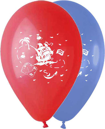 12'' Printed Pirate's Ship Latex Balloon (25 pcs)