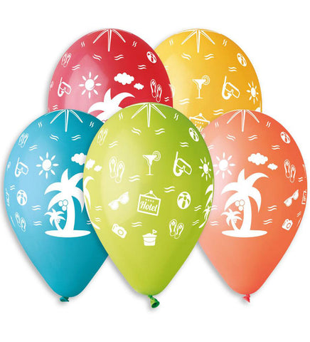 13'' Printed Holidays 5 different Colors Latex Balloon (25 pcs)