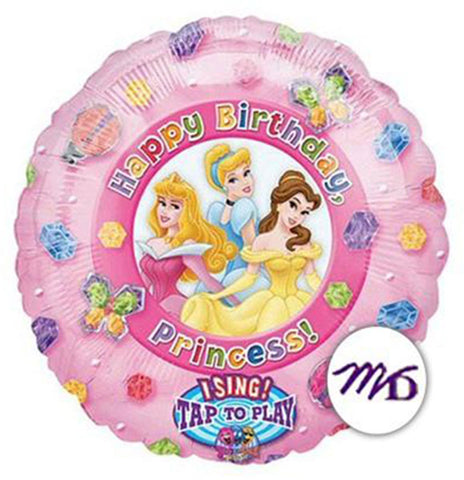 36'' Disney Princess 'Happy Birthday' singing foil balloon