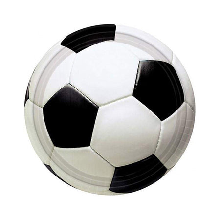 Small Plates with Soccer ball (8 pcs)