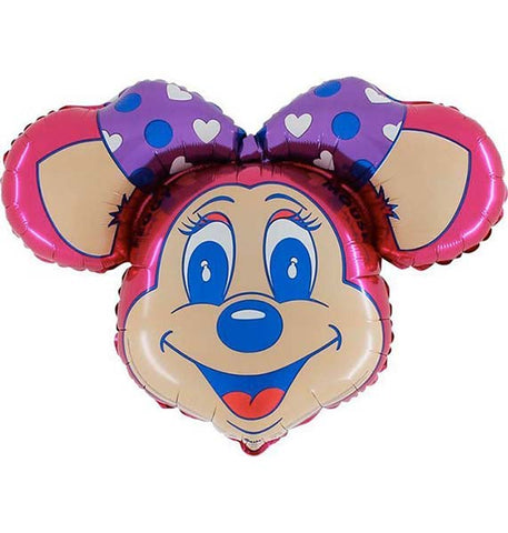 "36"" Peggy Mouse Face Foil Balloon STREET"
