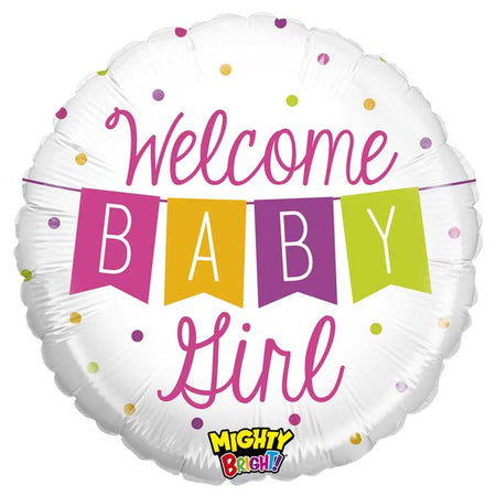 18'' Welcome Baby Girl banner Foil Balloon