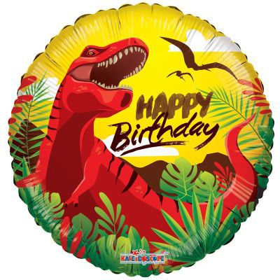"18"" Happy Birthday Dinosaur foil balloon"