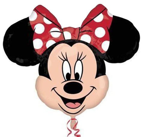 "21"" Minnie Mouse Disney Face Foil Balloon STREET"