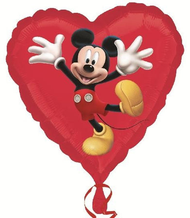 18'' Mickey Mouse Disney Heart Foil Balloon