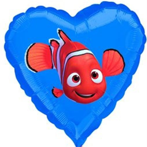 18'' Nemo Heart Foil Balloon