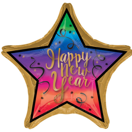 Star colorful ''Happy New Year'' foil Balloon