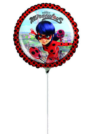 "9"" Mini Shape Miraculous Ladybug Foil Balloon"