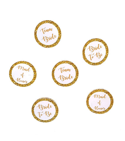 Handmade gold Badges for Bachelorette party